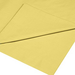 Home Collection - Yellow cotton rich percale flat sheet
