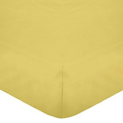 Home Collection - Yellow cotton rich percale fitted sheet