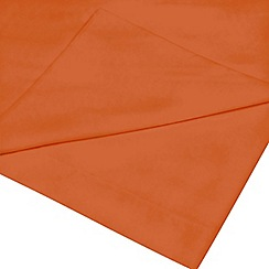 Home Collection - Orange cotton rich percale flat sheet