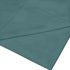 Home Collection - Teal cotton rich flat sheet