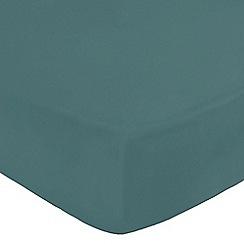 Home Collection - Teal cotton rich fitted sheet