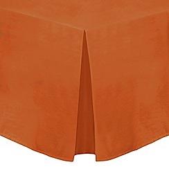 Home Collection - Orange cotton rich percale valance trims