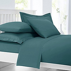 Home Collection - Teal cotton rich duvet cover