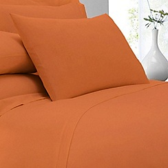 Home Collection - Orange cotton rich percale Standard pillow case pair