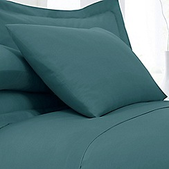 Home Collection - Teal cotton rich standard pillowcase pair