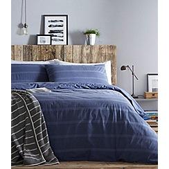 Home Collection - Indigo seersucker bedding set