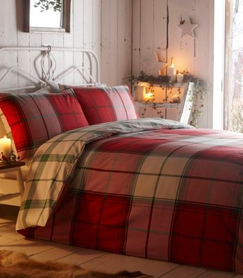 Home collection espen red check winter bedding set debenhams gumiabroncs Image collections