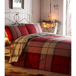 Home Collection - Espen red check winter bedding set