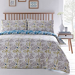 Home Collection Basics - Green 'Neve' floral 2 pack bedding set
