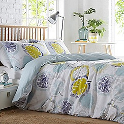 Home Collection Basics - Light blue 'Jose' cheese plant bedding set