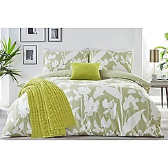 J by Jasper Conran - Light green 'Southbank' duvet cover