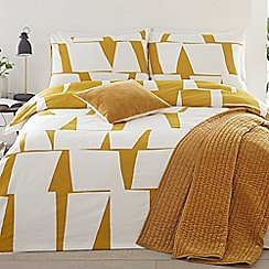 J by Jasper Conran - Yellow 'London Bridge' duvet cover