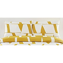 J by Jasper Conran - Yellow 'London Bridge' standard pillowcase pair