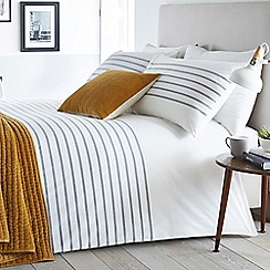 J by Jasper Conran - White 'Epsom Stripe' duvet cover