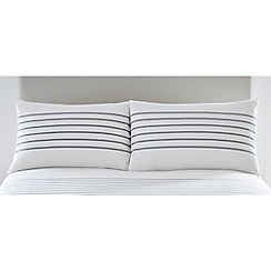 J by Jasper Conran - White 'Epsom Stripe' standard pillowcase pair
