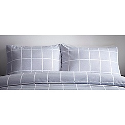 J by Jasper Conran - Blue 'St James' standard pillowcase pair