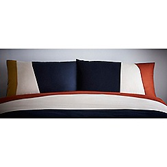 J by Jasper Conran - Multicoloured 'Putney' standard pillowcase pair