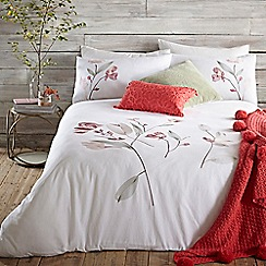 RJR.John Rocha - White 'Willow' duvet cover