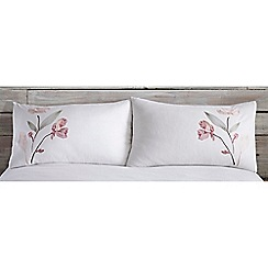 RJR.John Rocha - White 'Willow' standard pillowcase pair