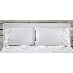 RJR.John Rocha - White 'Zen' standard pillowcase pair