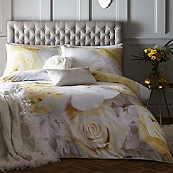Star by Julien Macdonald - Yellow 'Tiffany' duvet cover