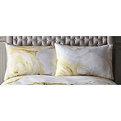 Star by Julien Macdonald - Yellow 'Tiffany' standard pillowcase pair