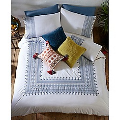 MW by Matthew Williamson - White 'Skye' embroidery bedding set