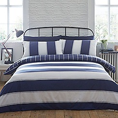 Home Collection - Blue 'James' stripe bedding set
