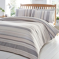 Home Collection - Natural 'Rita' jacquard bedding set