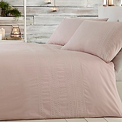 Home Collection - Pink 'Simone' embroidery bedding set