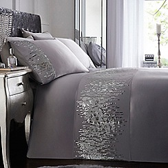 Star by Julien Macdonald - Silver 'Mia' sequin bedding set