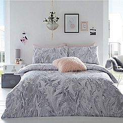 Home Collection Basics   Grey U0027Cosmo Glitter Marbleu0027 Bedding Set