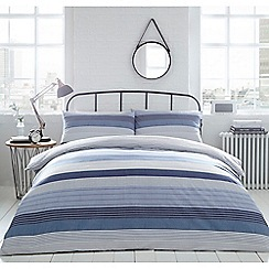 Home Collection - Blue 'Ellison' stripe bedding set