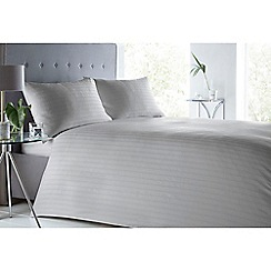 J by Jasper Conran - Silver 'Sateen stripe' bedding set