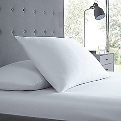 Debenhams - White 300TC Sateen fitted sheet set