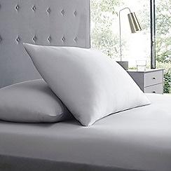 Debenhams - Silver 300TC Sateen fitted sheet set