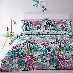 Home Collection - Multicoloured 'Cactus' bedding set