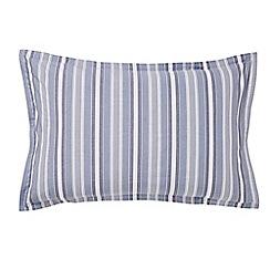 Murmur - Blue 'Kyoto' oxford pillowcase