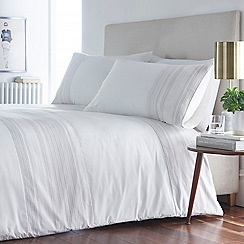 J by Jasper Conran - White 'Kew Gardens' Bedding Set