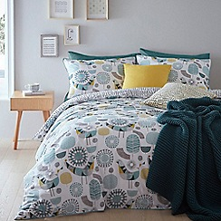 Home Collection - Multicoloured 'Bird Print' bedding set