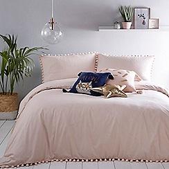 Home Collection - Pink 'Ella' pom pom bedding set