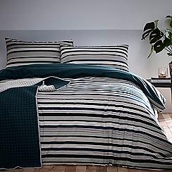 Debenhams - Green 'Dylan' Brushed Cotton Bedding Set