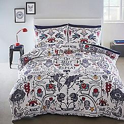 Home Collection Basics - Multicoloured 'Calavera' bedding set