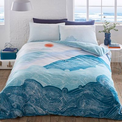 Debenhams   Turquoise U0027Nami Waveu0027 Bedding Set