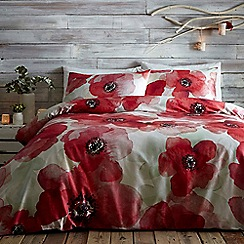 RJR.John Rocha - Red 'Bella' duvet cover