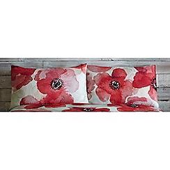 RJR.John Rocha - Red 'Bella' Standard pillowcase pair