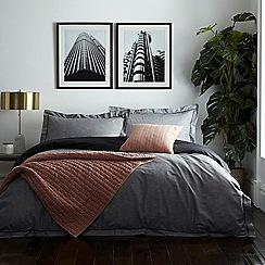 J by Jasper Conran - Grey 'Knightsbridge' Duvet Cover