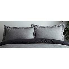 J by Jasper Conran - Grey 'Knightsbridge' Pillowcase pair