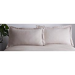 J by Jasper Conran - Natural 'Greenwich' Oxford Pillowcase Pair