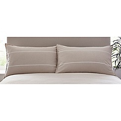 J by Jasper Conran - Natural 'Grosvenor' Standard Pillowcase Pair